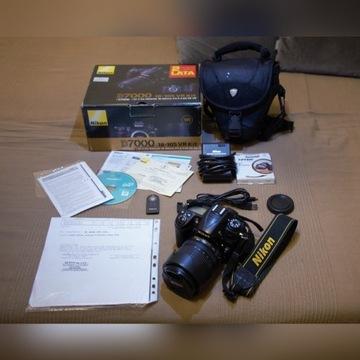 Duży zestaw Nikon D7000 + 18-105mm VR + gratisy