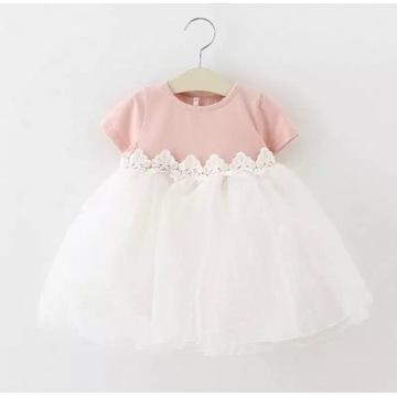 Sukienka dla dziewczynki 80 cm piękna na roczek
