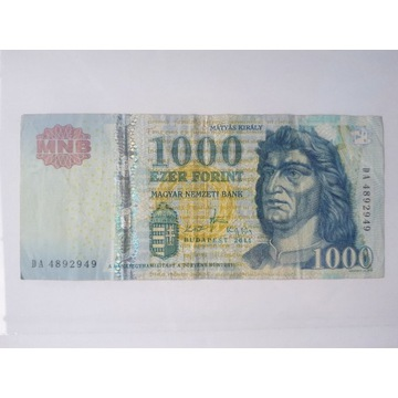 WĘGARY 1000 FORINTÓW 2011 r.