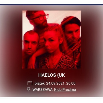 Sprzedam bilet na koncert Haelos HÆLOS w Warszawie