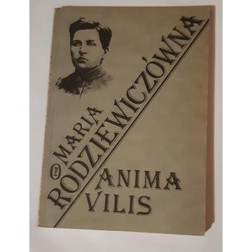 ANIMA VILIS Maria Rodziewiczówna