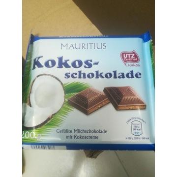 Pyszna niemiecka czekolada z kokosem