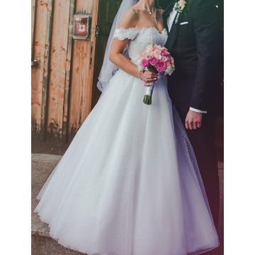 Suknia Ślubna 'Księżniczka' odpinane ramiączka