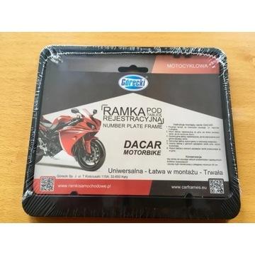 Ramka tablicy rejestracyjnej motocyklowej ZATRZASK