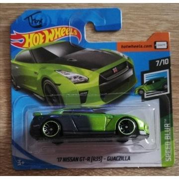 Hot Wheels Nissan GT-R R35 GUACZILLA SPEED BLUR