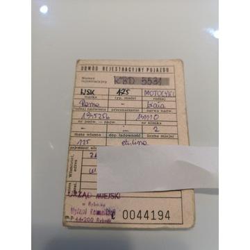 Dowód rej. WSK 175 z 1979 r.