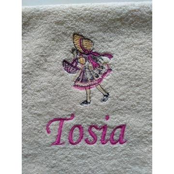 Ręcznik 30x50 z imieniem Tosia upominek Mikołajki