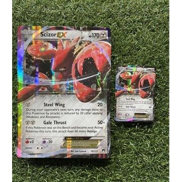 Pokemon Scizor EX duża i zwykła karta TCG 76/122