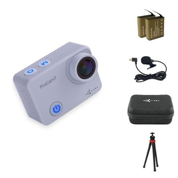Blogger Kit 12 in 1: Action Camera ProCam 7 Touch