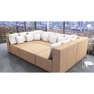 Kanapa narożnik rogówka łóżko sofa modułowy zestaw