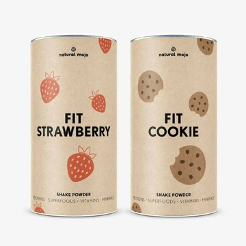 Natural Mojo dwa fit Cookie i fit Strawberry