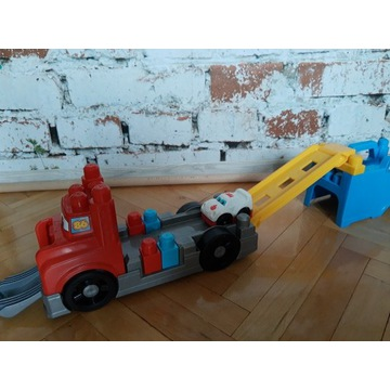 Mega Bloks ciężarówka, zjeżdżalnia