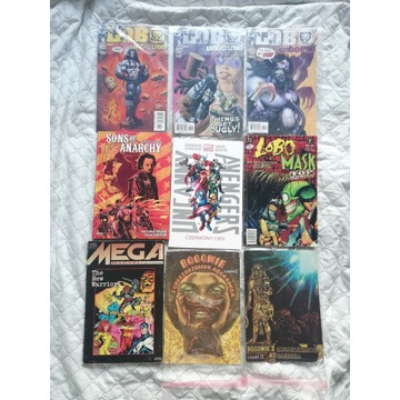 Komiksy,kolekcja 9 komiksów Lobo,Avengers,Marvel