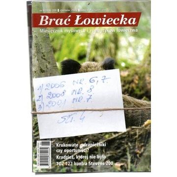 2001/8,BRAĆ ŁOWIECKA,NUMERY JAK NA SKANI,SZT.4