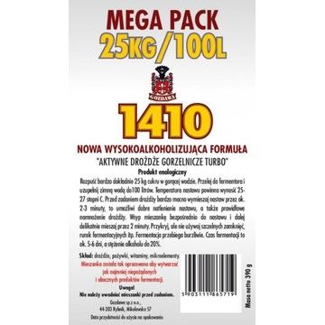 Drożdże gorzelnicze 1410 mega pack do wódek