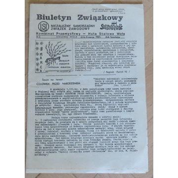 Biuletyn NSZZ Solidarność Stalowa Wola 6.03.1981