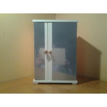 Duża szafa biała z lustrem dla lalki lalek