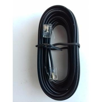 Kabel telefoniczny RJ11 czarny dł. 3m