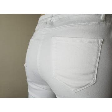 Spodnie białe, damskie typu jeans rozm. L