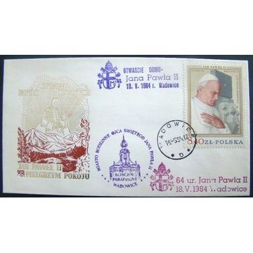Papież JP II, Cp. Fi. 2483, 64 urodziny JP II.