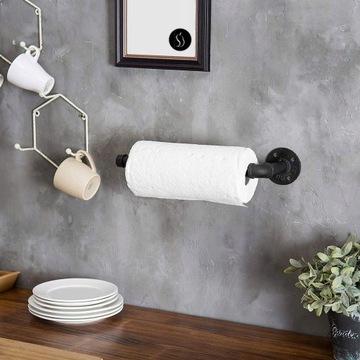 Uchwyt wieszak na ręczniki papierowe loft