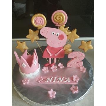 Gotowa dekoracja na tort Swinka Peppa
