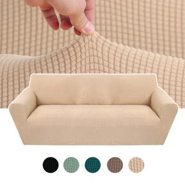 Pokrowiec na sofę 2 os.gruby elastyczny czerwony