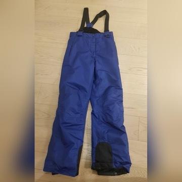 Spodnie narciarskie 146/152 + termo kipsta wedze
