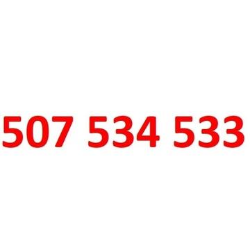 507 534 533 starter orange złoty numer