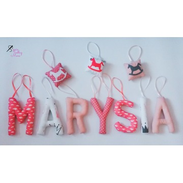 Literki szyte MARYSIA + 3 dekory gratis Nowe