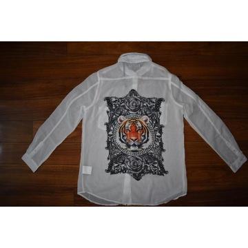 Saints&Mortals Białą Koszula z nadrukiem Luźna S
