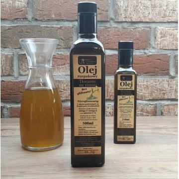 Olej rzepakowy bez glifosatu, tłoczony na zimno