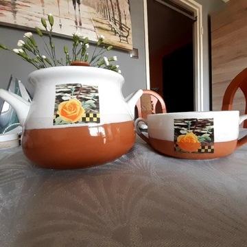 Waza, komplet 5 misek z wazą, porcelana do zupy
