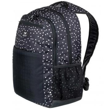 Plecak ROXY czarny w kropki zestaw z piórnikiem:)