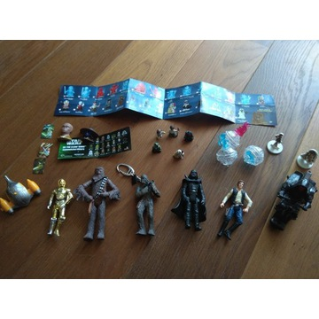 Figurki Star Wars mega zestaw 18 sztuk