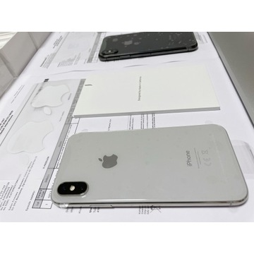 Iphone XS 64GB srebrny prawie NOWY GWARANCJA