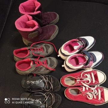 Buty dla dziewczynki 32-33  kozaki tenisówki sanda