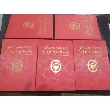 Księga lekarska gospodyni domowej 5 tomów 1928-29