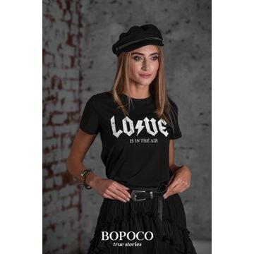 T-shirt LOVE czarny rozmiar S