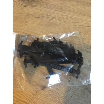 Sznurówki czarne silikonowe