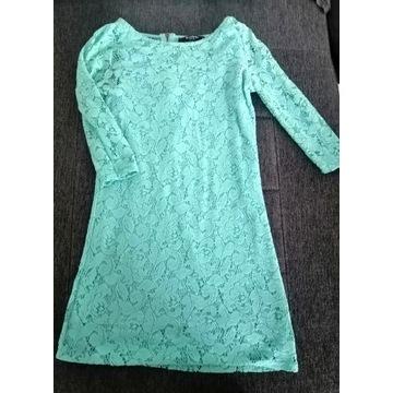 Sukienka tunika baby blue 36 S koronka Reserved