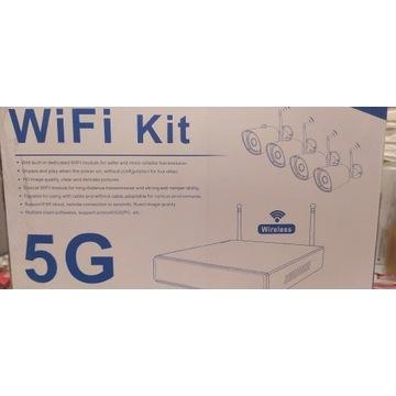 Monitoring bezprzewodowy wifi 4 kamery rejestrator