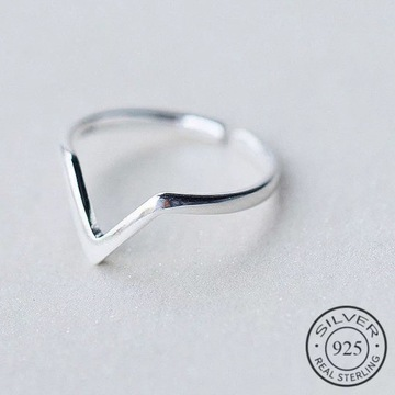 Pierścionek srebrny regulowany