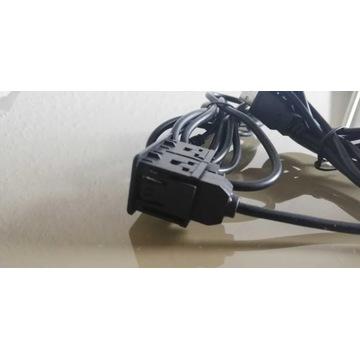 Gniazdo USB i AUX do samochodu