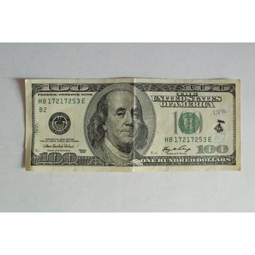 100 dolarów ZNACZEK STEMPEL Kolekcja USA pieczęć