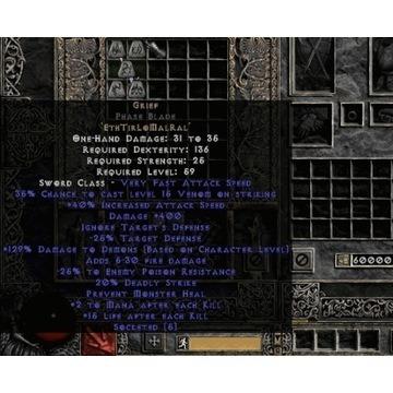 Unid Grief / Żal - Diablo 2 LOD NOWY LADDER