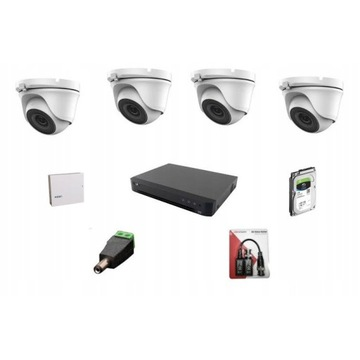 ZESTAW monitoringu AHD MWPower 4 kamery 2MPx