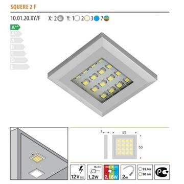 Oświetlenie LED, 6 x oprawa LED RGB 12V zestaw.