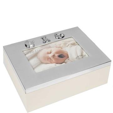 Pudełko wspomnień na pamiątki dziecka na chrzest