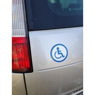 Silny Magnes niepełnosprawni na pojazd.